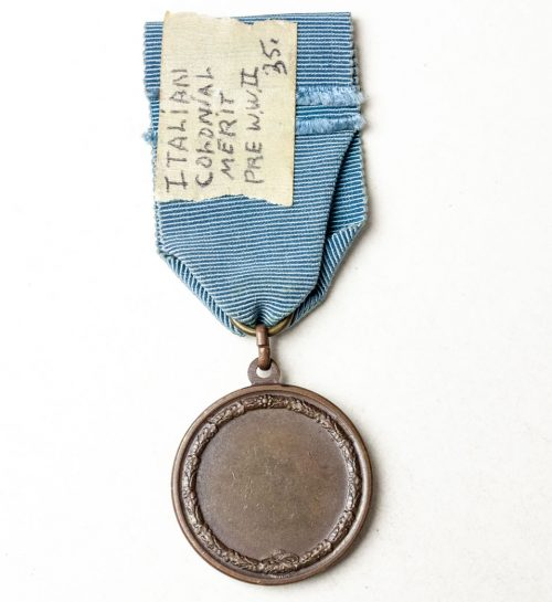 Italy - Colonial Merit Medal Vitorio Emanuele
