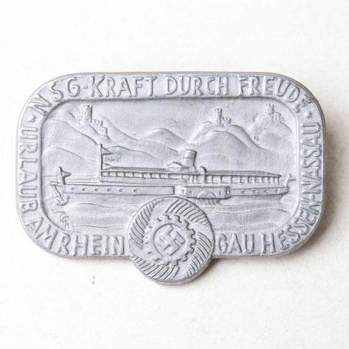 NSG Kraft durch Freude Urlaub am Rhein Gau Hessen Nassau abzeichen