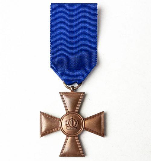 Preussen Dienstauszeichnung Kreuz 1. Klasse für XV Dienstjahren