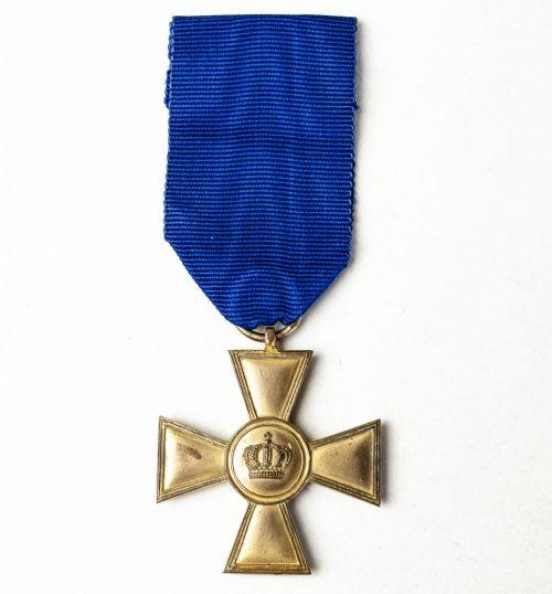 Prussia Dienstauszeichnung Kreuz 1. Klasse für XV Dienstjahren (gold color)