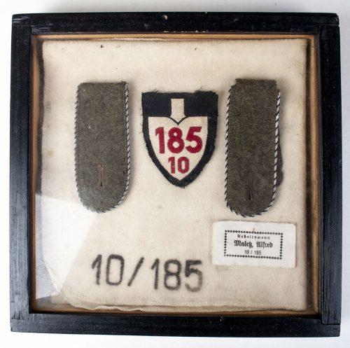 RAD 185/10 Arbeitsmann Alfred Malek Reichsarbeitsdienst set: ärmelabzeichen, Shoulderboards and very rare Fusslappen