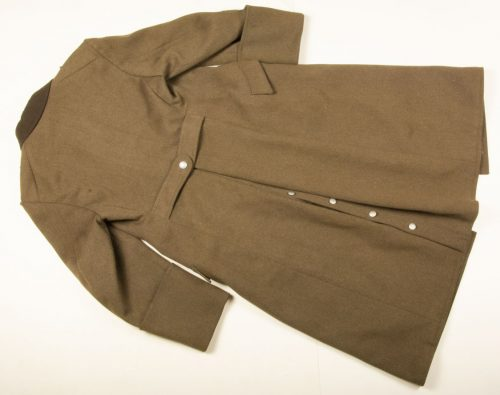 RAD / Reichsarbeitsdienst mantel (Long Coat) for a Arbeitsmann with hanger for a dagger