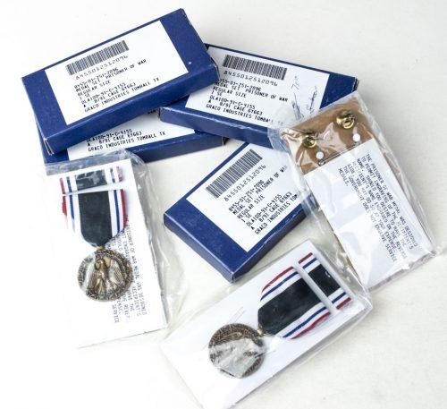USA – Prisoner of war medal + ribbon + case