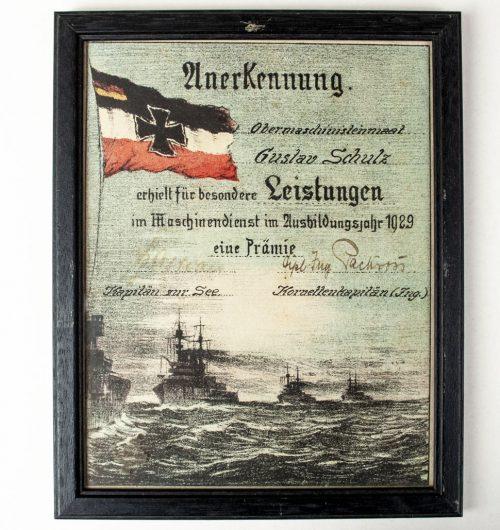Reichsmarine Anerkennung für besondere Leistungen