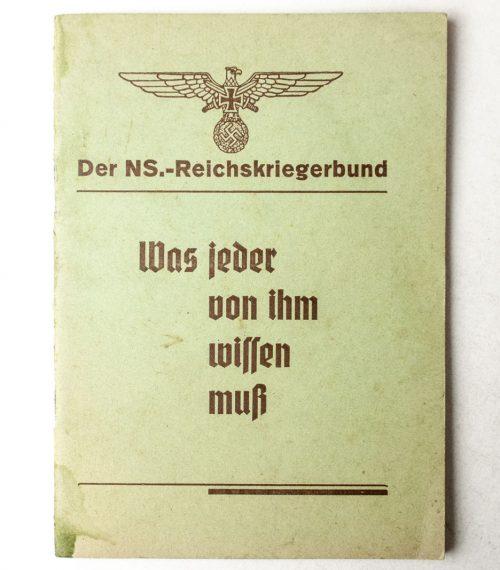 Der NS.-Reichskriegerbund – Was Jeder von Ihm wissen muss