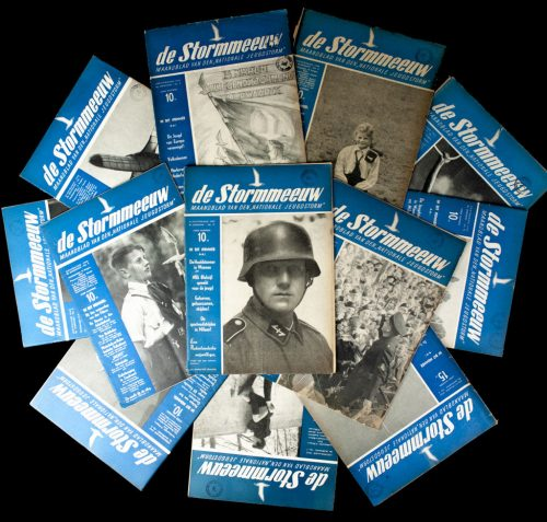 "Dutch NSB Jeugdstorm complete annual wartime 1942 publication of 12 editions of the ""Stormmeeuw"" (RARE!)"