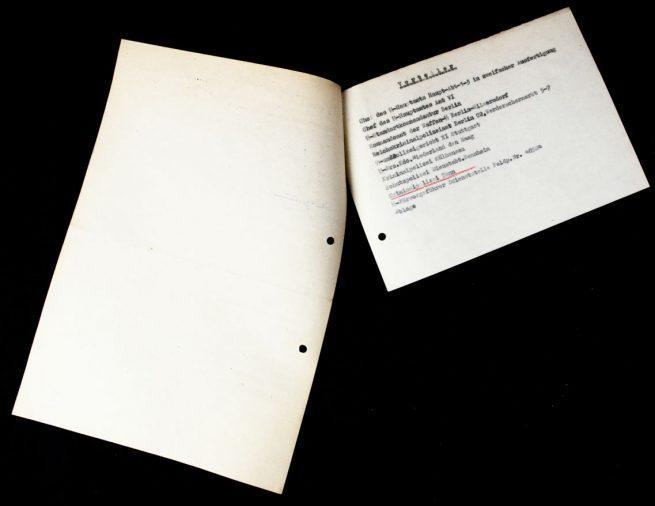 Dutch Waffen-SS Volunteer from Schoterland Fahnenflucht warrant document from SS-Ausbildungslager Sennheim 5
