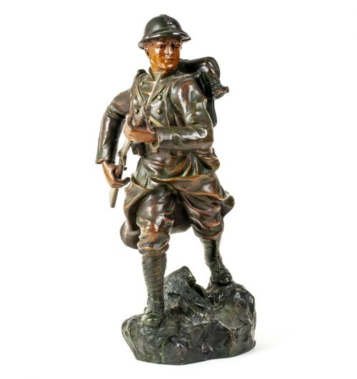 French World War I Douaumont Battle Soldier statue by artist Ruffony