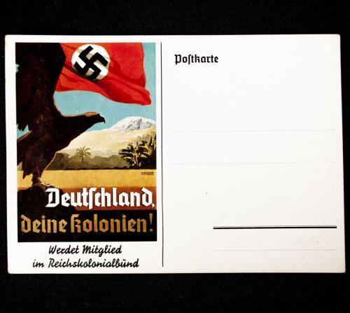 Postcard Deutschland deine Kolonien - Werdet Mitglied im Reichskolonialbund