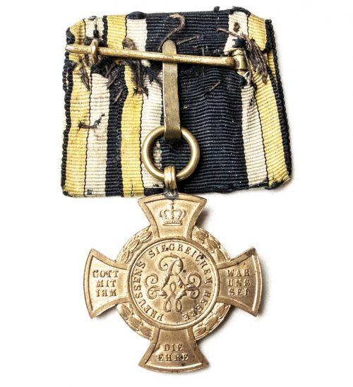 Prussia Erinnerungskreuz 1866 Königgrätz single mount on original ribbon