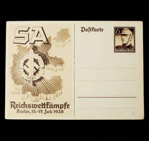 SA Wettkämpfe Berlin 1938 postcard