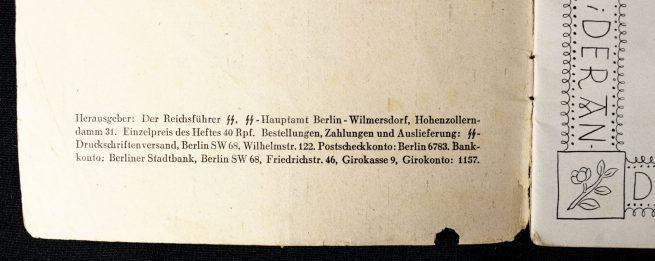 SS frontbrochure Fröhliche Gabe Für die SS-Kameraden an alle Fronten (1943/1944)