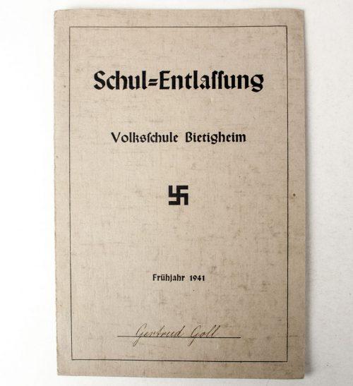 Schul-Entlassung Volksschulle Bietigheim 1941 (with large schoolphoto)
