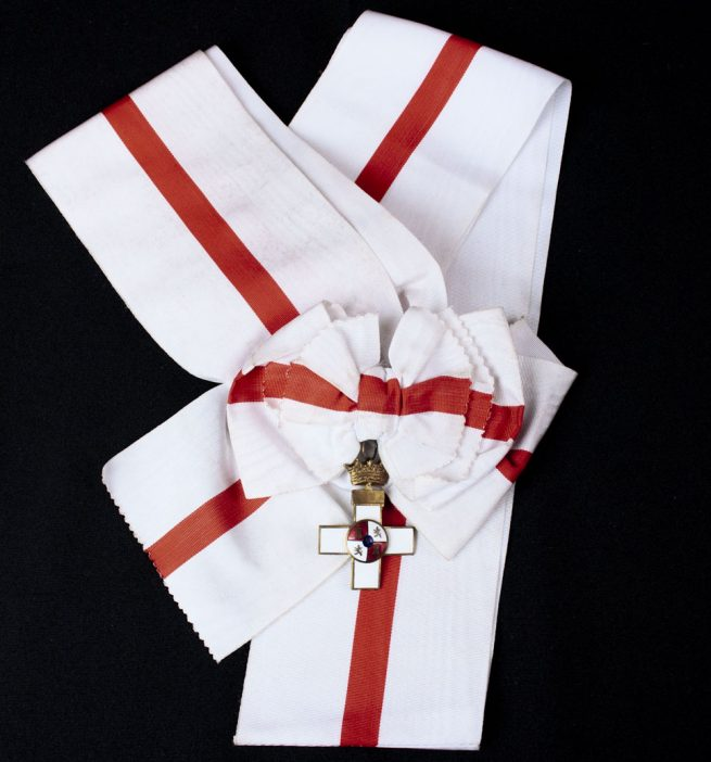 Spain – Sash with Order of Military Merit, I Class Cross with White Distinction