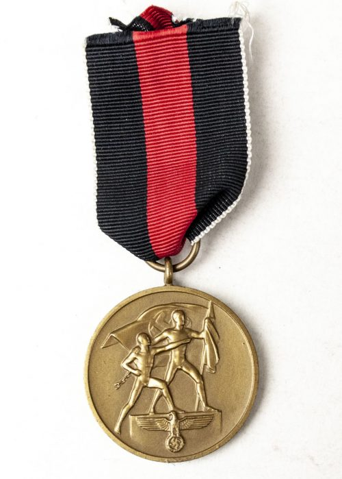 Sudetenland annexation Anschluss medal + long extra ribbon