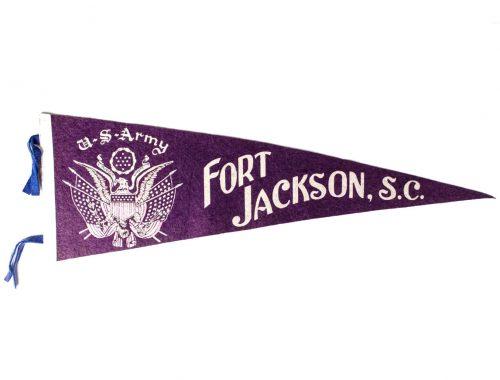 US Army WWII Fort Jackson Sc. felt pennant