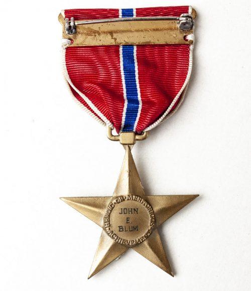 USA WWII Bronze Star (named vto John Eltinge Blum)
