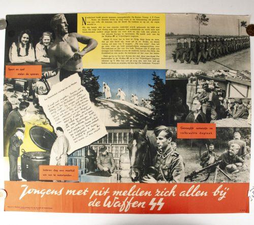 Waffen SS / Dutch SS Poster - Jongens met pit melden zich bij de Waffen SS