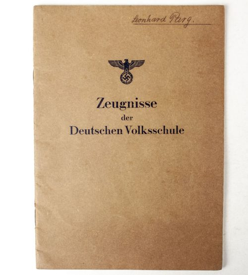 Zeugnisse der Deutschen Volksschule (named and filled in!)