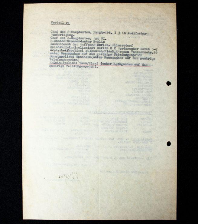 Dutch Waffen-SS Volunteer from Rilland-Bath Fahnenflucht warrant document from SS-Ausbildungslager Sennheim