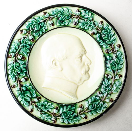 Bismarck small green porcelain plate