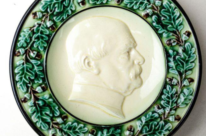 Bismarck small green porcelain plate