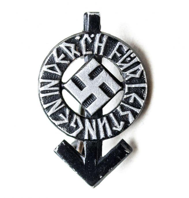 HJ Hitlerjugend Leistungsabzeichen in black miniature