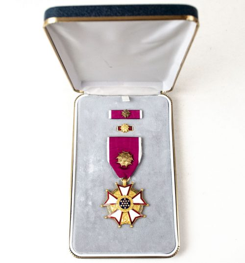 USA Legion of Merit Medal with presentation case