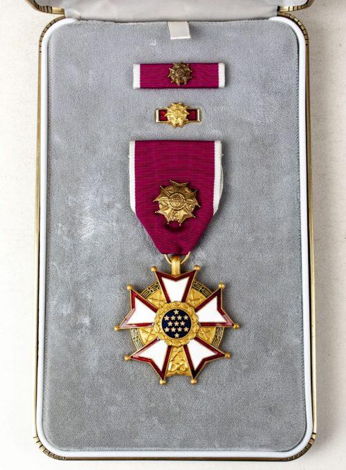 USA Legion of Merit Medal with presentation case