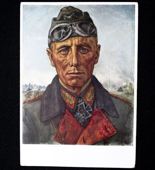 Willrich Panzerwaffe postcard: General Rommel (1941)
