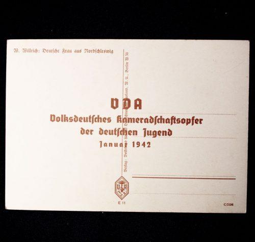 Willrich postcard: Deutsche Frau aus Nordschleswich (1942)