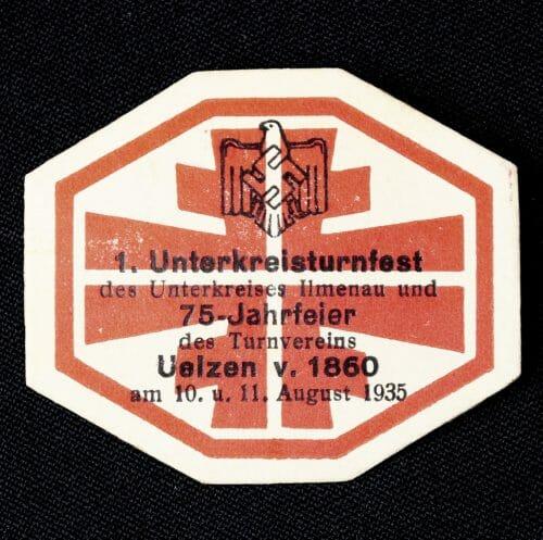 1. Unterkreisturnfest 1935 abzeichen