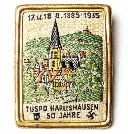 50 Jahre Tuspo Harleshausen 17.u.18.8.1885-195 abzeichen/badge (Turnerbund?)