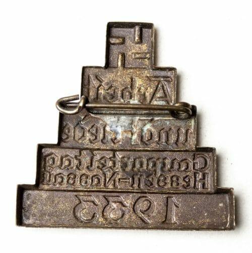 Arbeit und Friede - Gauparteitag Hessen-Nassau 1936 abzeichen