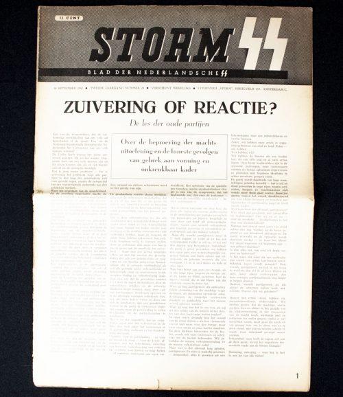 Dutch SS - Storm SS Newspaper 18 september 1942