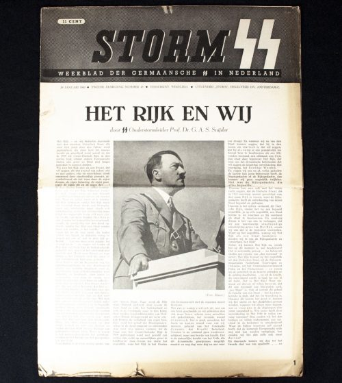 Dutch SS - Storm SS Newspaper 29 january 1943