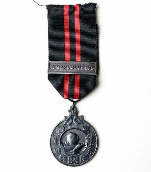 "Finland Winterwar 1939-1940 medal with ""Ilmapuolustus"" ribbon clasp"
