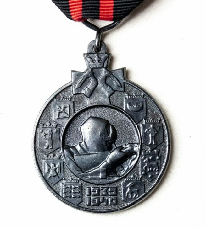 "Finland Winterwar 1939-1940 medal with ""Ilmapuolustus"" ribbon clasp"