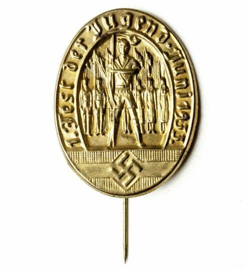 HJ Hitlerjugend - 1. Fest der Jugend Juni 1935 abzeichen