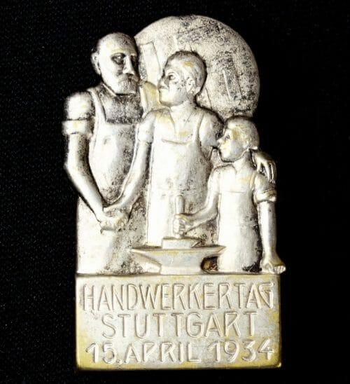 Handwerkertag Stuttgart 15. April 1934 abzeichen