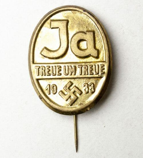 JA! Treue um Treue 1933 abzeichen