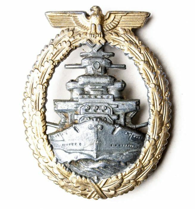Kriegsmarine High Seas Fleet badge / Flottenkriegs abzeichen (by maker S&L)