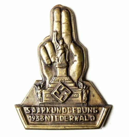 Saarkundgebung 1933 Niederwald - abzeichen