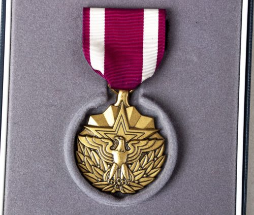 USA Meritorious Service medal + ribbons + case