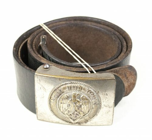 Hitlerjugend (HJ) Assmann marked belt + buckle (RZM M4/46)