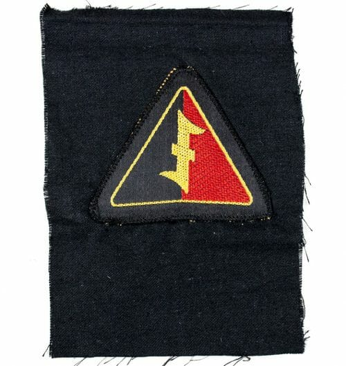 NSB – WA (Bevo) arm badge on black cloth piece