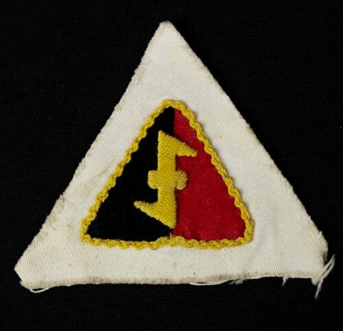 NSB/W.A. Cap badge on white cloth