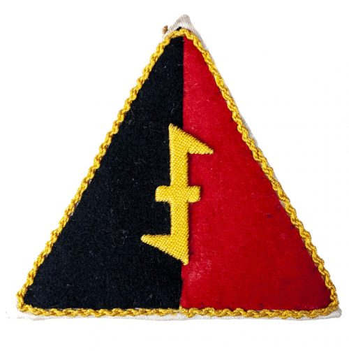 This is a large NSB/W.A. sportshirt triangle patch.
