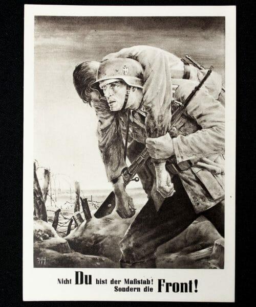 Postcard Nicht Du bist der Mass-stab! Sondern die Front!