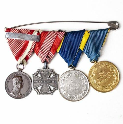 WWI Austrian veterans medalbar